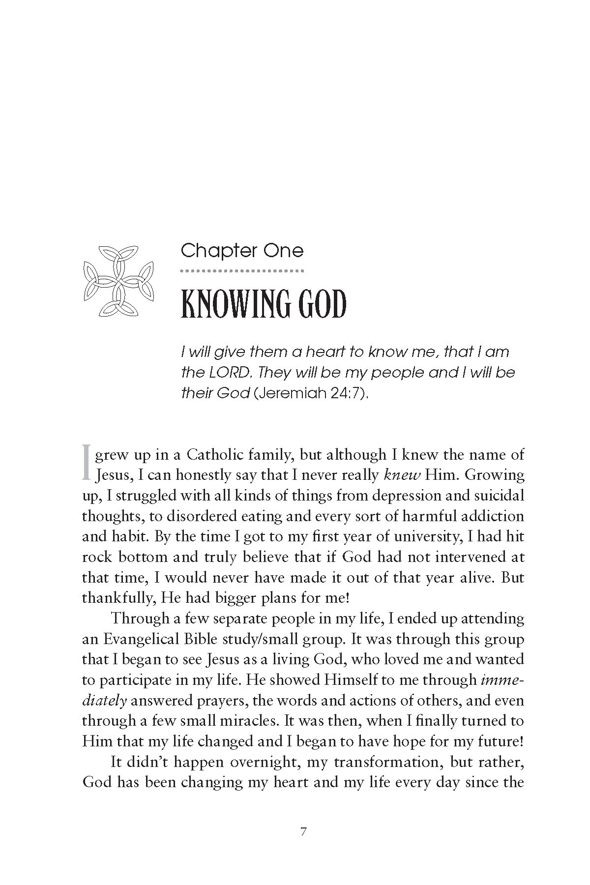 10 Steps To Knowing God Ch 1 Start After